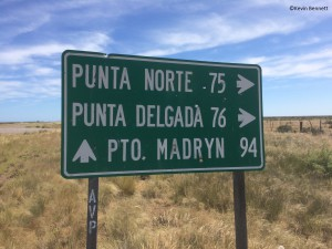 Puerto Madryn Sign - Copyright Kevin Bennett