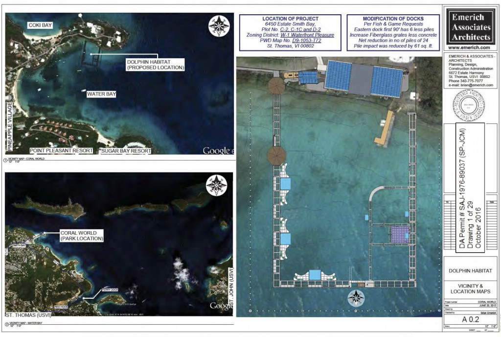 Photo: Emerich Associates Architects Plans Coral World Ocean Park obtained by CORALations under FOIA