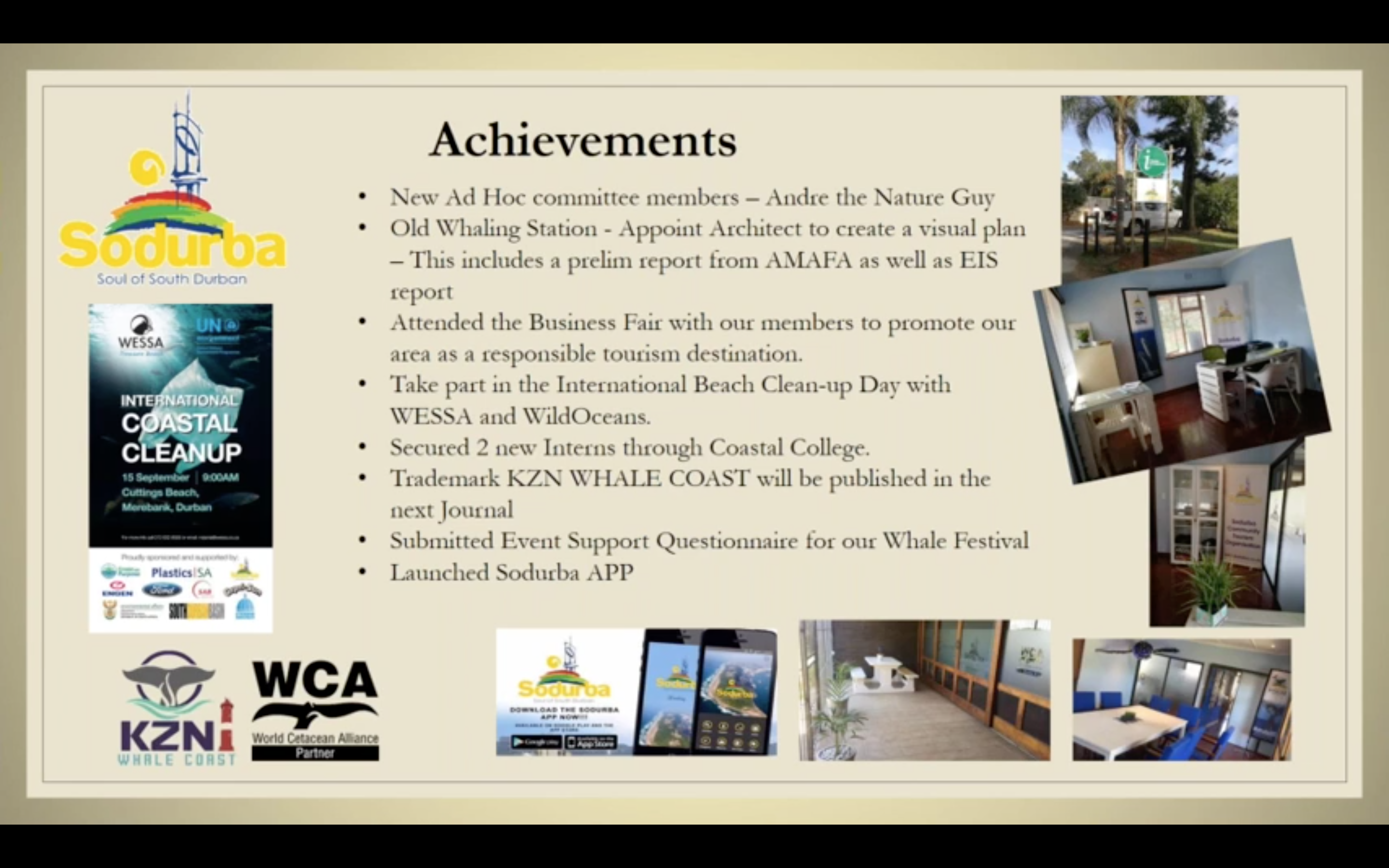 WCA Partner Sodurba summarise some of their main achievements during their Focus Day Webinar